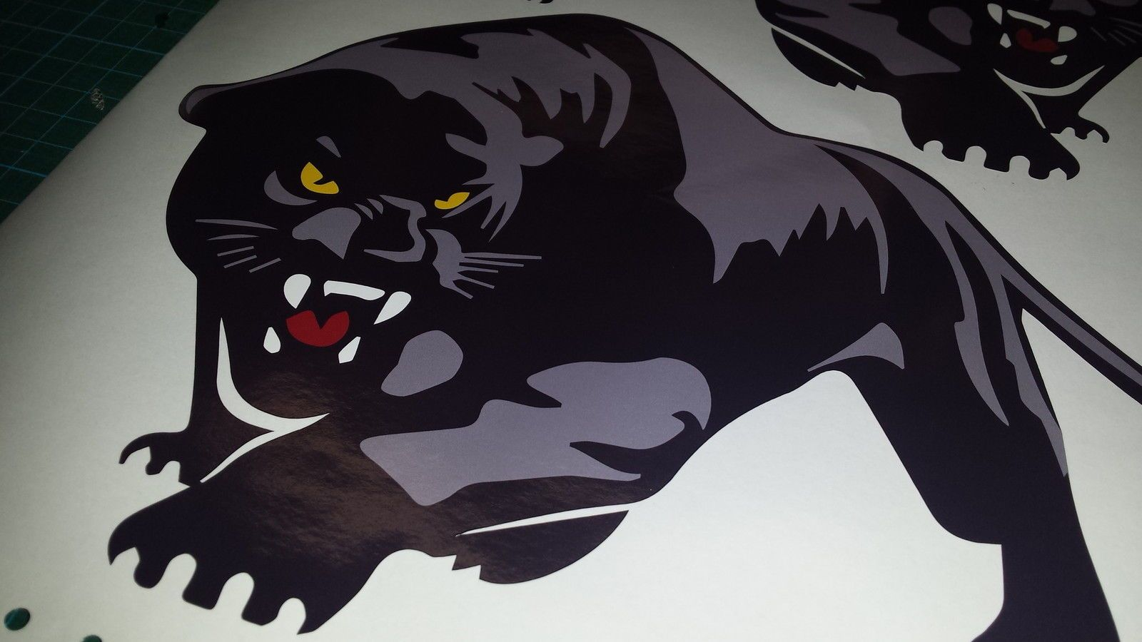 3x scomadi panther decals stickers 2 large 1 small for Custom vinyl mural prints