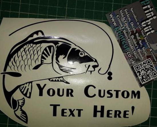 Carp Fishing-Custom Text Carp Sticker type3