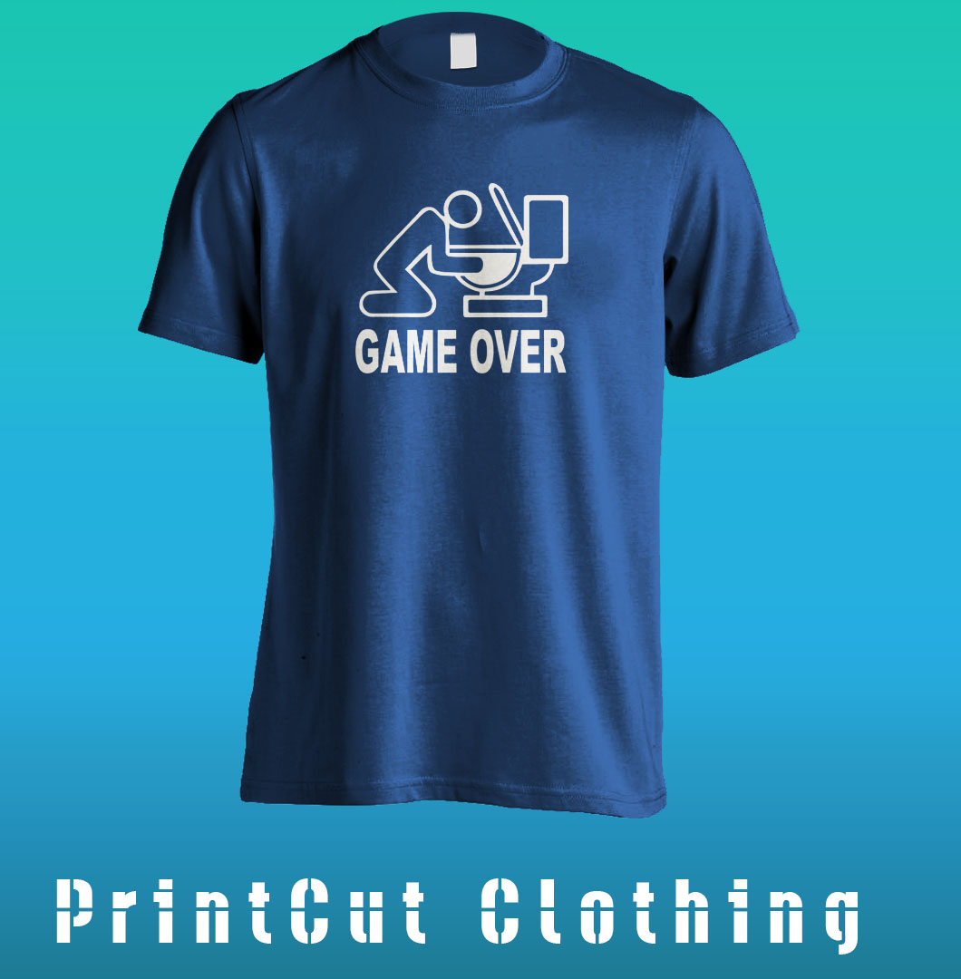Game over tee for T shirt design game