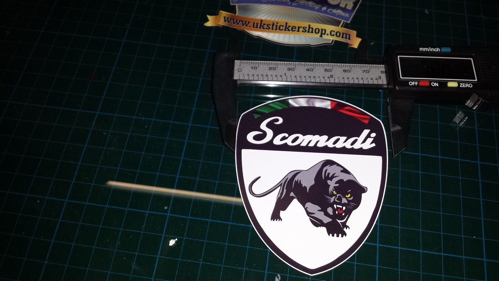 1x Scomadi Badge Logo Printed Decal Sticker Vespa