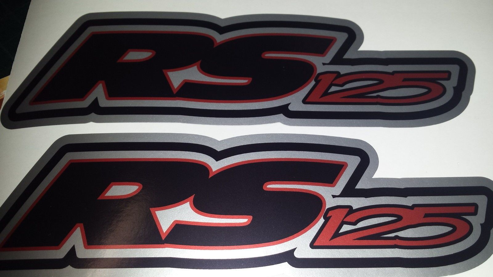 Aprilia rs125 decals stickers 3colour black red silver rs 125 racing ip 9 piece