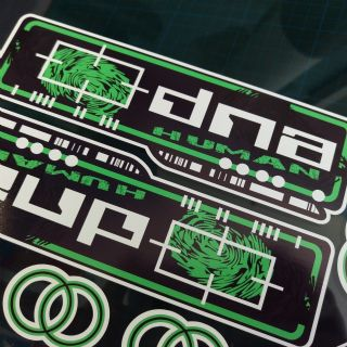 Gilera DNA Decals//Stickers Green//Black//White Barcode rep
