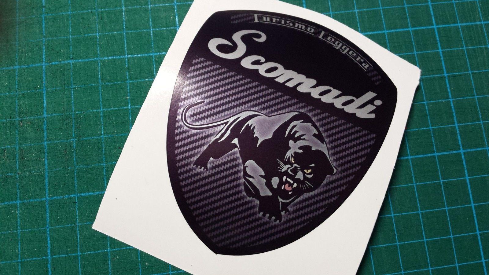 Scomadi Logo Badge Printed Decal Sticker Innocenti Mod Nos
