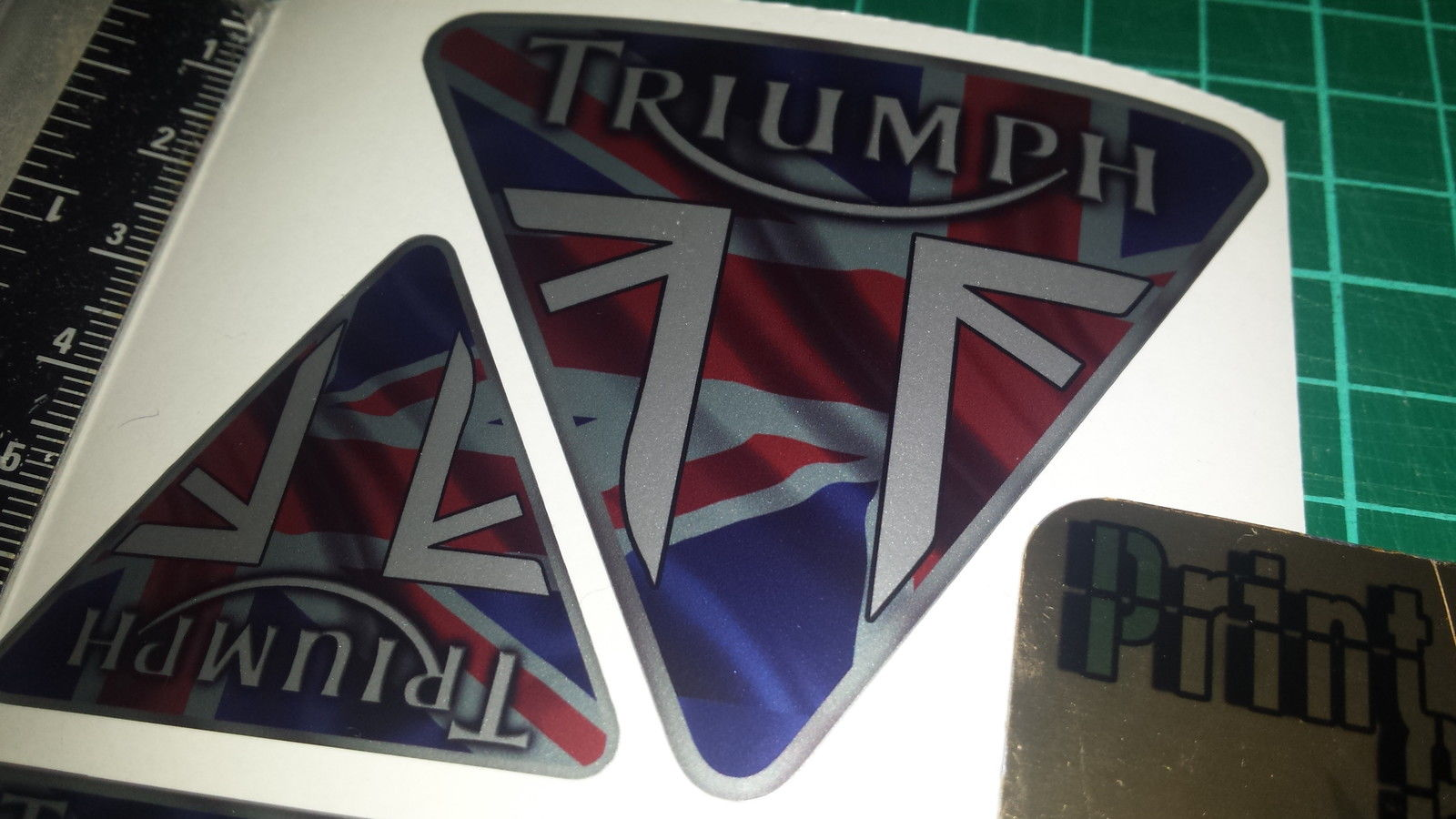 Triumph Tank Decals X4 Union Jack Style Tiger Trophy Speed