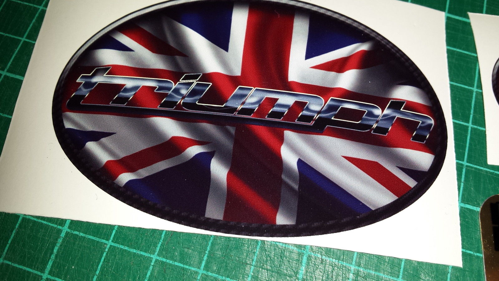 Triumph Union Jack Tank Decals Stickers X4 Triple Daytona