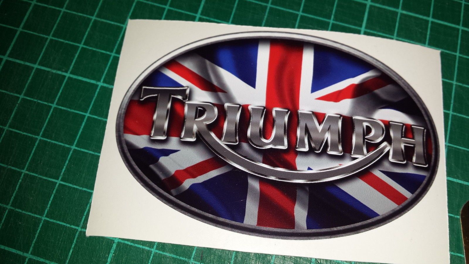 Triumph Union Jack Tank Decals Stickers X4 Triple Daytona