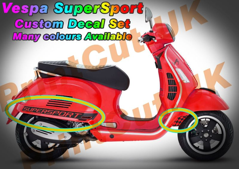 Vespa gts super sport decal sticker kit gt custom aftermarket